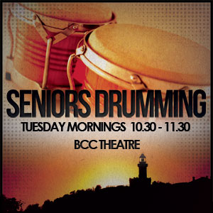Senior's Drumming Circle  @ Byron Theatre | Byron Bay | New South Wales | Australia