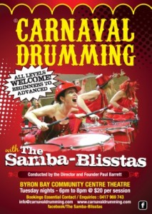 Samba Blisstas Drumming Group @ Byron Theatre