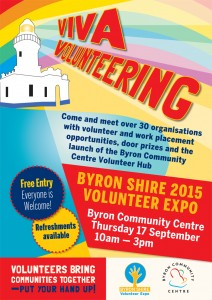 Byron Shire Volunteer Expo 2015 VIVA Volunteering Presented by Byron Community Centre @ Byron Theatre | Byron Bay | New South Wales | Australia