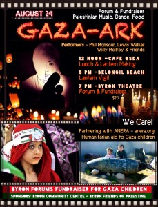 Gaza Ark Fundraiser for the children of Gaza @ Byron Theatre | Byron Bay | New South Wales | Australia