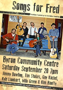 Songs for Fred Presented by Byron Songwriters (Kim Banffy) @ The Byron Theatre | Byron Bay | New South Wales | Australia