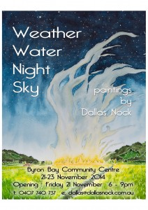 Weather Water Night Sky - Paintings by Dallas Nock @ Byron Community Centre (upstairs) | Byron Bay | New South Wales | Australia