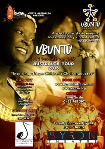 "UBUNTU African Youth Choir - ""I AM because we ARE"" Australian Tour 2016 Presented by KwaYa Australia @ Byron Theatre"