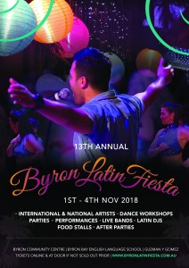 13th Annual Byron Latin Fiesta – Pre Party @ Byron Community Centre (Cavanbah Room - upstairs)