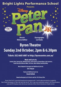 Disney's PETER PAN JR. Presented by Bright Lights Performance School @ Byron Theatre