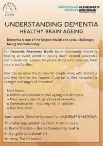 Understanding Dementia presented by The Byron Community Centre @ Byron Theatre