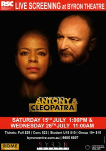 Antony & Cleopatra - RSC Live Screening from Stratford-upon-Avon presented by Byron Theatre @ Byron Theatre