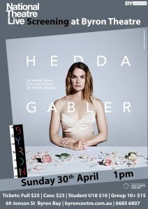 Hedda Gabler by Henrik Ibsen - National Theatre Live Screening presented by Byron Theatre @ Byron Theatre