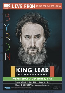 King Lear - RSC Live Screening from Stratford-upon-Avon presented by Byron Theatre @ Byron Theatre