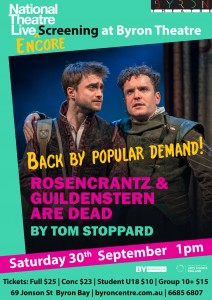Rosencrantz and Guildenstern are Dead by Tom Stoppard - National Theatre Live ENCORE Screening presented by Byron Theatre @ Byron Theatre