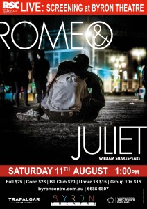 Romeo & Juliet by William Shakespeare – RSC Live Screening presented by Byron Theatre @ Byron Theatre