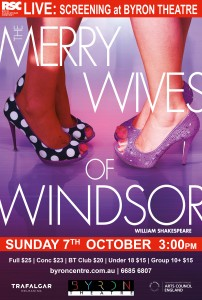 The Merry Wives of Windsor by William Shakespeare - RSC Live Screening presented by Byron Theatre @ Byron Theatre