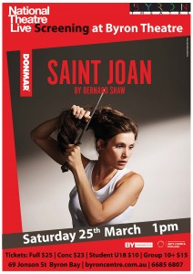 Saint Joan by Bernard Shaw - National Theatre Live Screening presented by Byron Theatre @ Byron Theatre