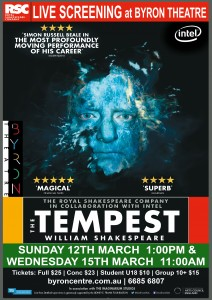 The Tempest - RSC Live Screening from Stratford-upon-Avon presented by Byron Theatre @ Byron Theatre
