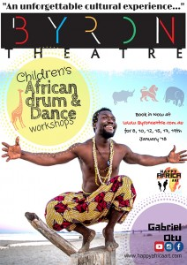 Children's African Drum and Dance Workshop presented by Gabriel Otu @ Byron Theatre