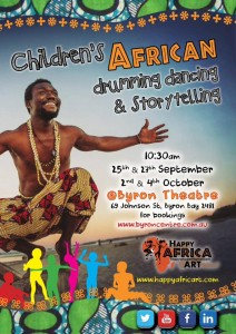 Children's African Drum, Dance and Storytelling Workshop presented by Gabriel Otu @ Byron Theatre
