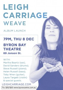 "Vocalist Composer Leigh Carriage Launches ""WEAVE"" @ Byron Theatre"