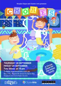 """""""Chores"""" presented by Cluster Arts & Hoopla Clique @ Byron Theatre 