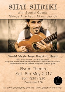 Shai Shriki – Strings Attached Album Launch presented by Shai Shriki @ Byron Theatre