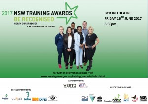 NSW State Training Awards poster @byrontheatre #awards