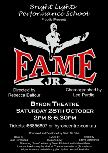Fame! JR - presented by Bright Lights Performance School @ Byron Theatre