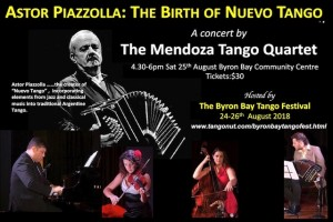 Astor Piazzolla: The Birth of Nuevo Tango presented by The Mendoza Tango Quartet @ Byron Theatre
