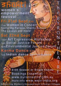 The Shakti Women's Empowerment Festival – Women In Concert presented by ARD(Australia) Inc. @ Byron Theatre
