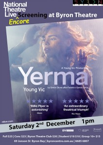 Yerma - NT Live Encore Screening starring Billie Piper presented by Byron Theatre @ Byron Theatre