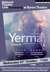 Yerma - National Theatre Live Screening presented by Byron Theatre @ Byron Theatre