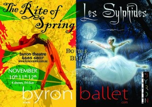 Double Bill: Les Sylphides & The Rite of Spring presented by Byron Ballet @ Byron Theatre