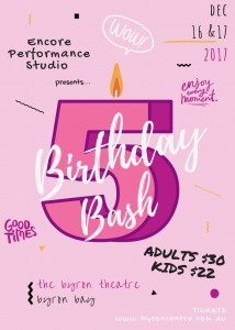 BIRTHDAY BASH! presented by Encore Performance Studio @ Byron Theatre