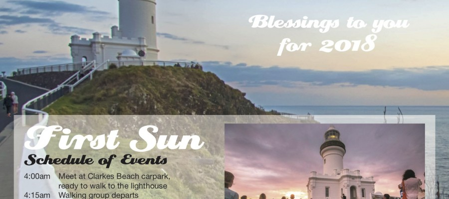 First Sun 2018 at Cape Byron Lighthouse