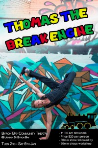 Thomas the Break Engine presented by Thomas Gorham & Malia Walsh: Kids Circus Show + Circus Workshop @ Byron Theatre | Byron Bay | New South Wales | Australia