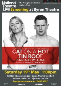 Cat on a Hot Tin Roof by Tennessee Williams – National Theatre Live Screening presented by Byron Theatre @ Byron Theatre