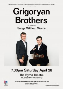 Grigoryan Brothers – Songs Without Words @ Byron Theatre