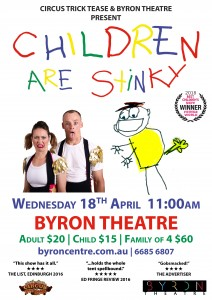 Children are Stinky presented by Circus Trick Tease & Byron Theatre @ Byron Theatre