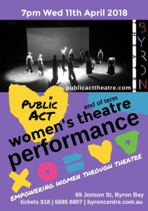 End of Term Women's Theatre Performance Presented by Public Act Theatre @ Byron Theatre | Byron Bay | New South Wales | Australia