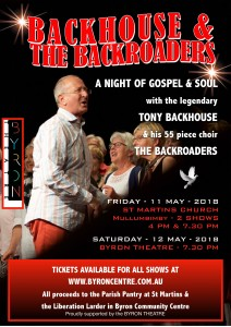 Backhouse & the Backroaders at St Martin's Church, Mullumbimby @ St Martin's Church