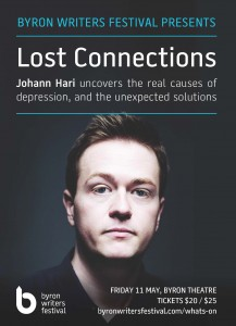 Byron Writers Festival presents Lost Connections: Johann Hari uncovers the real causes of depression, and the unexpected solutions @ Byron Theatre | Byron Bay | New South Wales | Australia