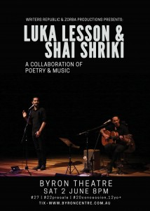 Luka Lesson & Shai Shriki presented by Zorba Productions @ Byron Theatre | Byron Bay | New South Wales | Australia