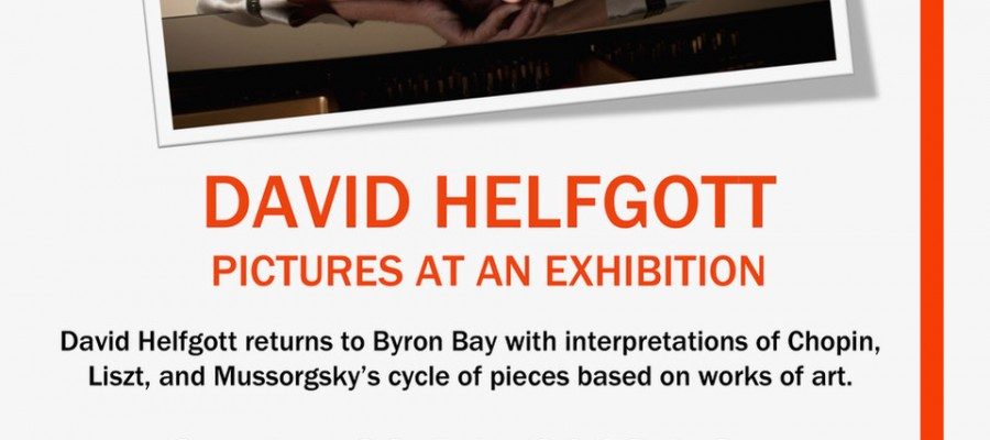 David Helfgott - Pictures at an Exhibition at Byron Theatre presented by Byron Music Society