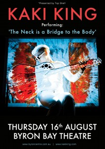 "Kaki King performs ""The Neck Is A Bridge To The Body"" presented by Top Shelf Productions Pty Ltd @ Byron Theatre"