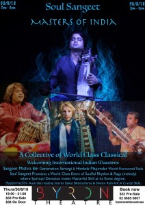 Masters of India: A Collective of World Class Classical Sangeet Music @ Byron Theatre