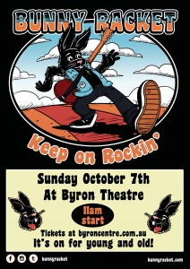 Bunny Racket – Keep on Rockin'! presented by Bunny Racket @ Byron Theatre