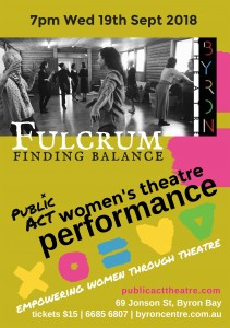 'Fulcrum' – Women's Theatre Performance presented by Public Act Theatre @ Byron Theatre