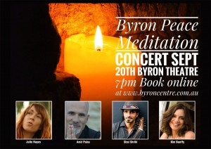 Byron Peace Meditation Concert presented by Peaces Of Eight Peace Meditators @ Byron Theatre