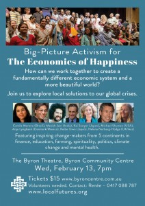Big-Picture Activism For The Economics of Happiness presented by Local Futures at Byron Theatre