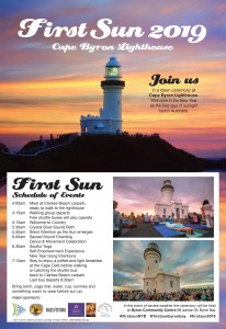 First Sun New Year's Day 2019 @ Cape Byron Lighthouse
