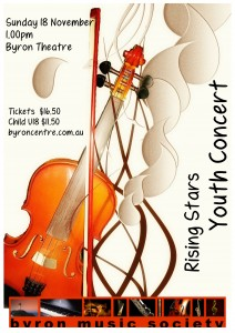 Rising Stars Youth Concert presented by Byron Music Society @ Byron Theatre