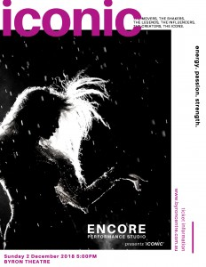 ICONIC presented by Encore Performance Studio @ Byron Theatre